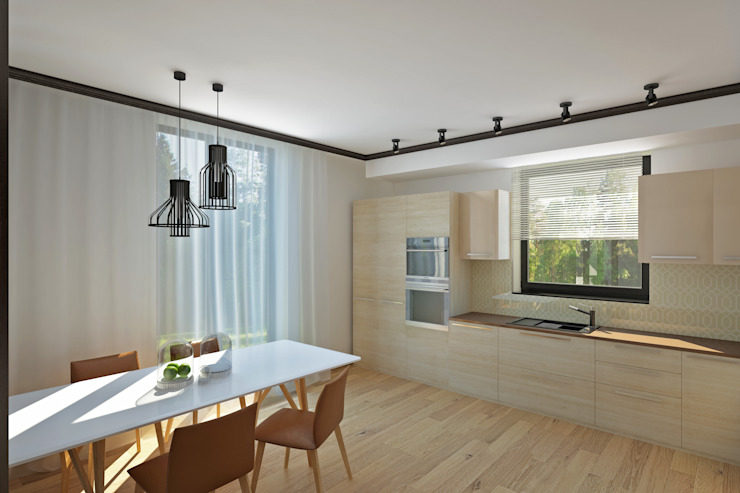 YES-designs Minimalist dining room