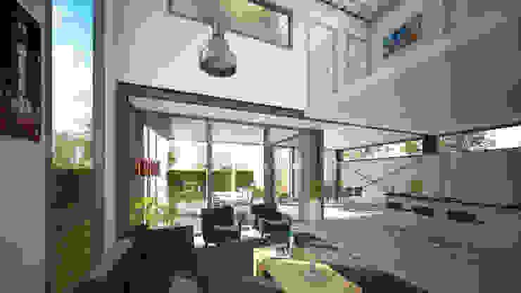 Woonhuis FRAME Eindhoven Moderne woonkamers van 2architecten Modern