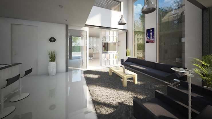 Living room by 2architecten