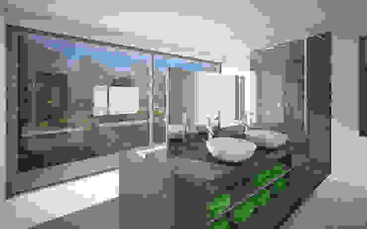 Verbouwing woonhuis JDGE Valkenswaard Moderne badkamers van 2architecten Modern