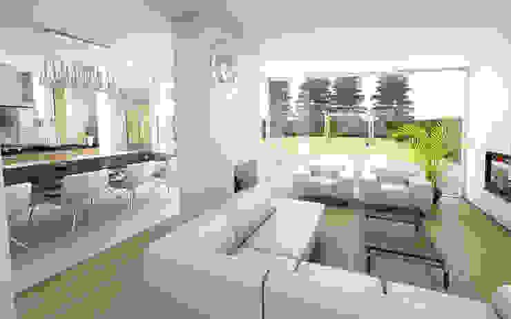 Woonhuis LBRL Asten Moderne woonkamers van 2architecten Modern