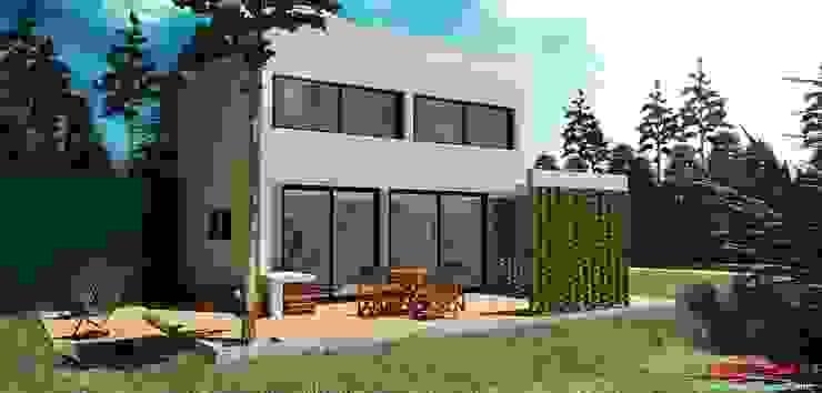 Casa OM. (En Construcción) de En obra arquitectos Minimalista