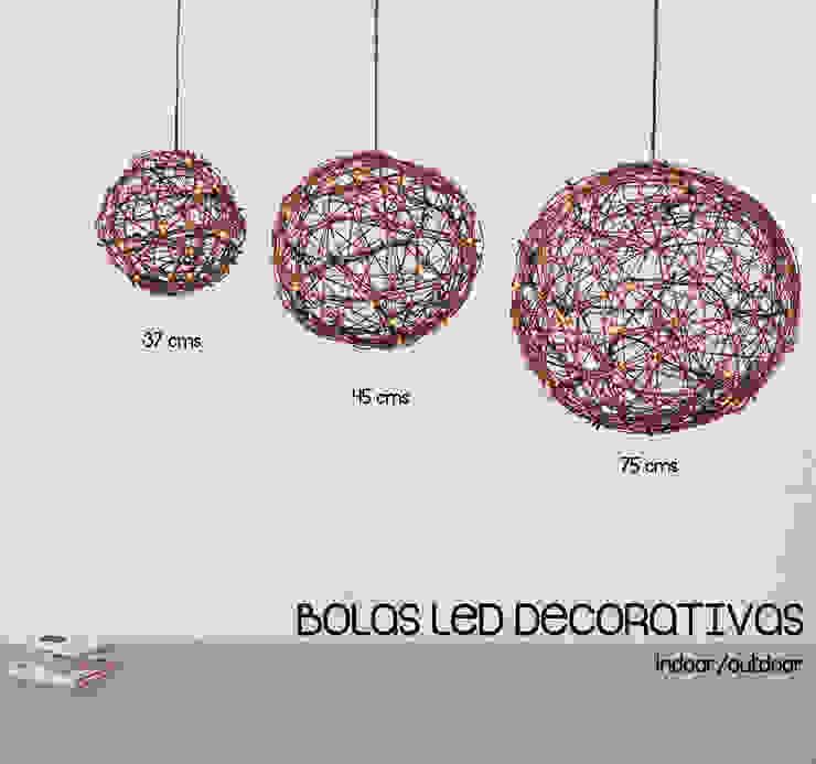 Bolas LED decorativas OutSide Tech Light JardínIluminación Ratán/Mimbre Acabado en madera