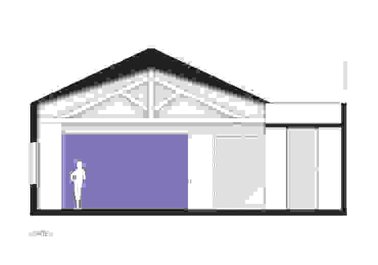 RSRG Arquitetos Paredes y pisos de estilo minimalista