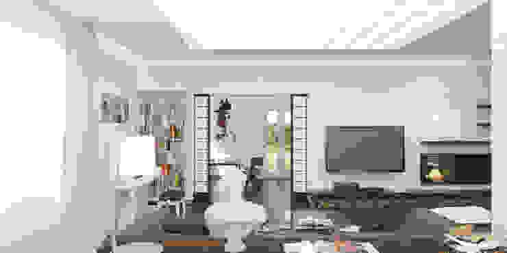 Волынка Гостиная в стиле минимализм от Brama Architects Минимализм Камень
