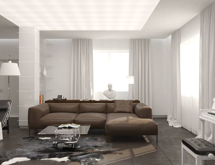 Волынка Гостиная в стиле минимализм от Brama Architects Минимализм Керамика