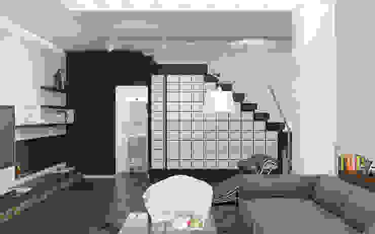Волынка Коридор, прихожая и лестница в стиле минимализм от Brama Architects Минимализм Стекло