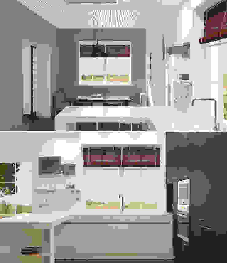 Волынка Кухня в стиле минимализм от Brama Architects Минимализм ДСП