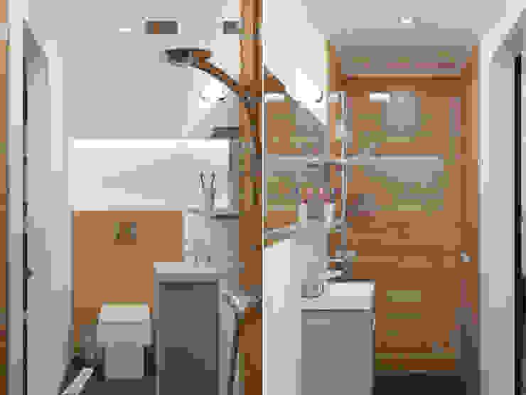 Волынка Ванная комната в стиле минимализм от Brama Architects Минимализм Керамика