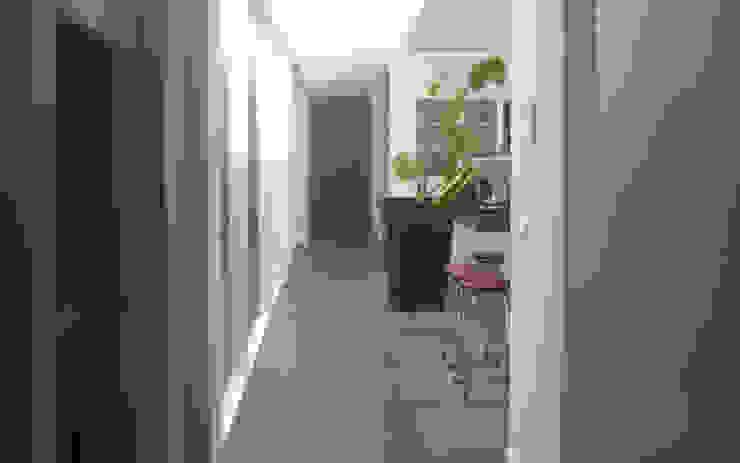 Modern Corridor, Hallway and Staircase by 2architecten Modern