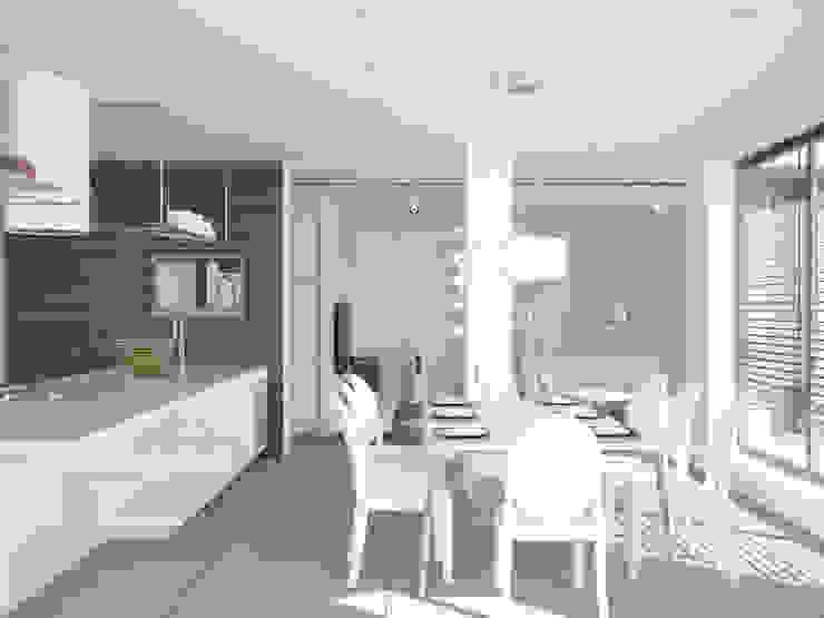 Бурдейного Кухня в стиле минимализм от Brama Architects Минимализм Керамика