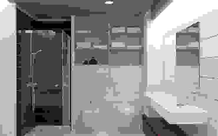 Бурдейного Ванная комната в стиле минимализм от Brama Architects Минимализм Керамика