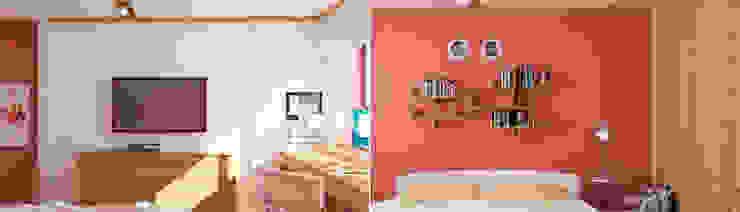 Бурдейного Детская комнатa в стиле минимализм от Brama Architects Минимализм ДСП