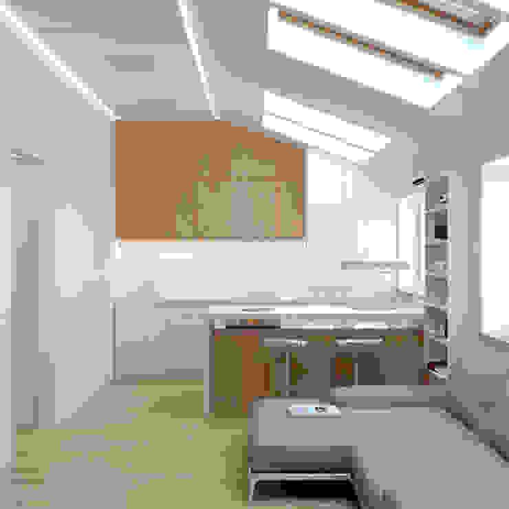 Краснодар Кухня в стиле минимализм от Brama Architects Минимализм ДСП