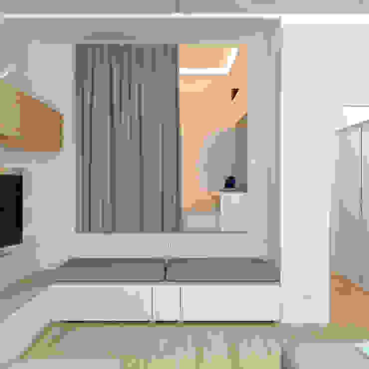Dormitorios de estilo minimalista de Brama Architects Minimalista Aglomerado