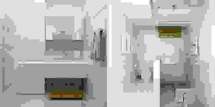 Краснодар Ванная комната в стиле минимализм от Brama Architects Минимализм Керамика
