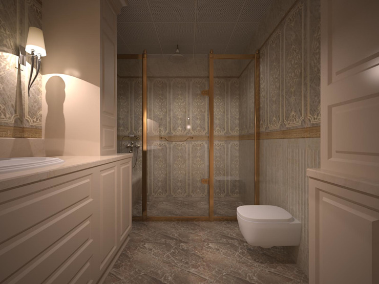 RUBA Tasarım – A.Ç. EVİ:  tarz Banyo