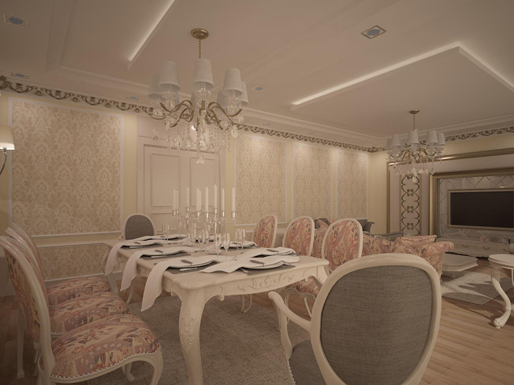 RUBA Tasarım – A.Ç. EVİ:  tarz Oturma Odası