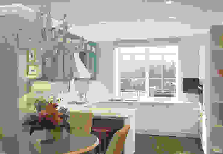 Салтыковка Кухни в эклектичном стиле от Brama Architects Эклектичный Изделия из древесины Прозрачный