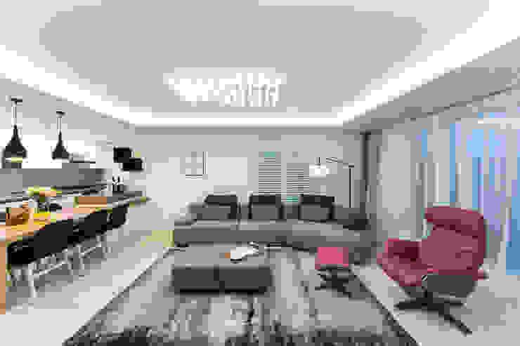 Salas / recibidores de estilo  por dual design, Moderno