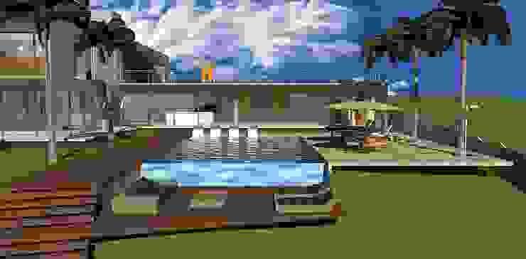 casa hc Piscinas modernas por grupo pr | arquitetura e design Moderno