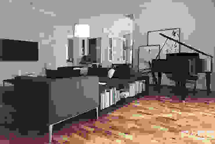 Projekt wnętrza w Lublinie /1 Nowoczesny salon od PASS architekci Nowoczesny