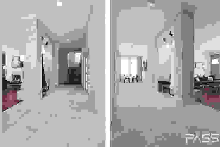 Projekt wnętrza w Lublinie /1 Nowoczesny korytarz, przedpokój i schody od PASS architekci Nowoczesny