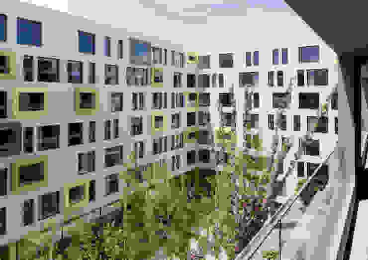 """Wettbewerb/Studienauftrag: Überbauung K2 – Projekt """"Greencube"""", Opfikon Moderne Häuser von Fröhlich Architektur AG Modern"""