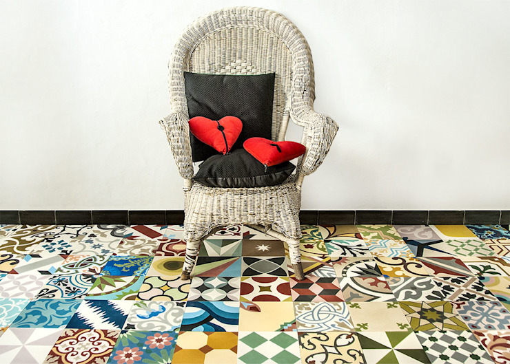 Mosaic del Sur Soggiorno eclettico di Mosaic del Sur Eclettico