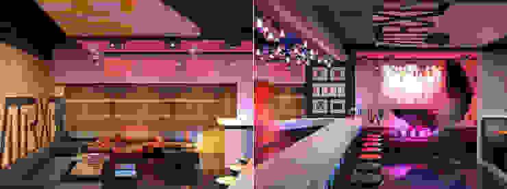 Советская Matrix Bar и GJG Бары и клубы в эклектичном стиле от Brama Architects Эклектичный ДСП