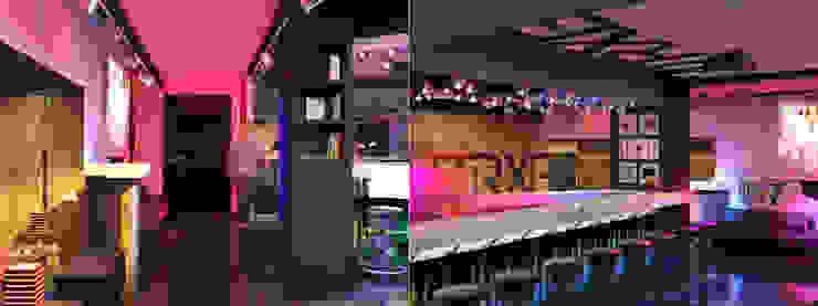 Советская Matrix Bar и GJG Бары и клубы в эклектичном стиле от Brama Architects Эклектичный Изделия из древесины Прозрачный