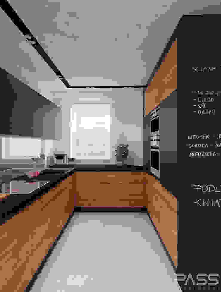 Projekt wnętrza w Warszawie /1 Nowoczesna kuchnia od PASS architekci Nowoczesny