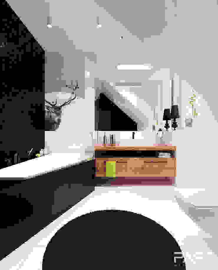 Projekt wnętrza w Warszawie /1 Nowoczesna łazienka od PASS architekci Nowoczesny