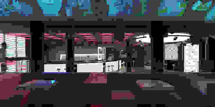 Советская City Club Бары и клубы в эклектичном стиле от Brama Architects Эклектичный Плитка