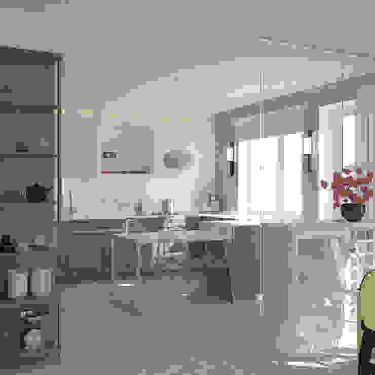 Cocinas de estilo ecléctico de Brama Architects Ecléctico Derivados de madera Transparente