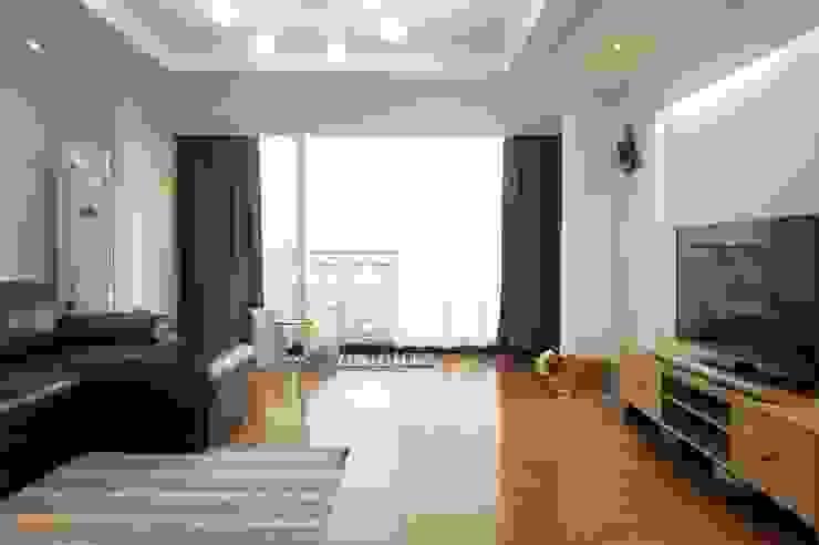 30평대 신혼집 홈 스타일링 : homelatte의  거실