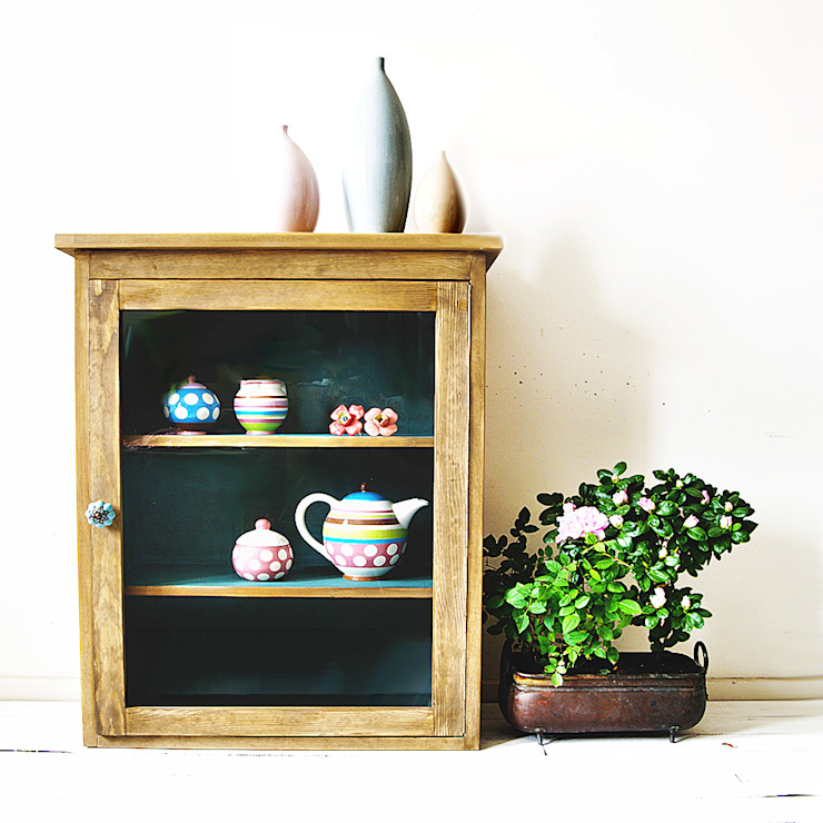 Turkusowa Szafka: styl , w kategorii  zaprojektowany przez Treefabric,Skandynawski Drewno O efekcie drewna