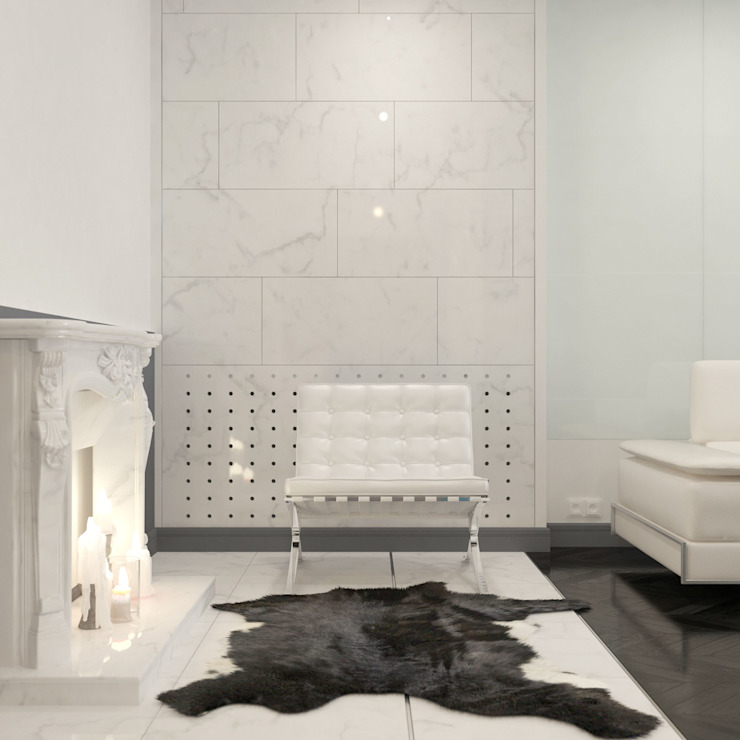 Salas de estilo clásico de Brama Architects Clásico Mármol