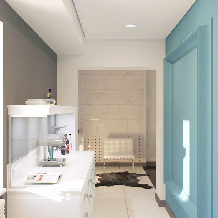 Cocinas de estilo clásico de Brama Architects Clásico Mármol