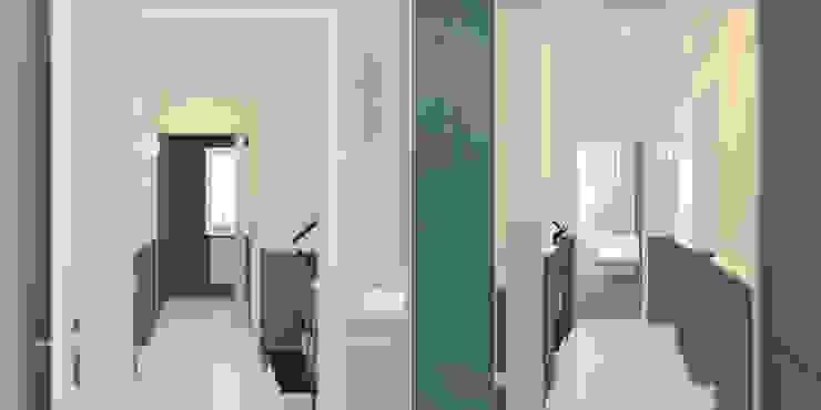 Pasillos, vestíbulos y escaleras de estilo clásico de Brama Architects Clásico Mármol