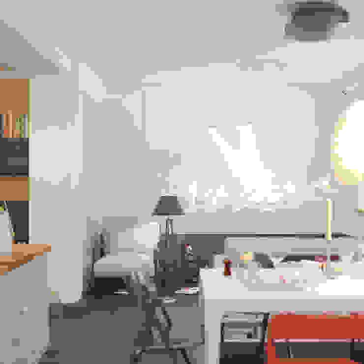Героев Обороны Гостиные в эклектичном стиле от Brama Architects Эклектичный