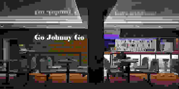 Советская Matrix Bar и GJG Бары и клубы в стиле минимализм от Brama Architects Минимализм ДСП