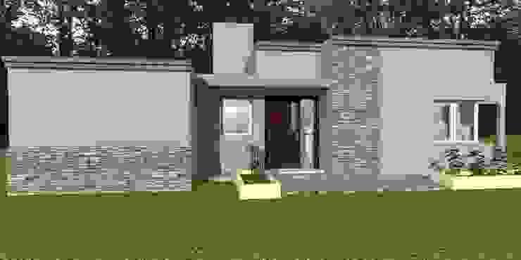 Vivienda Unifamiliar - 90 m² - Zona Villa Carlos Paz Casas modernas: Ideas, imágenes y decoración de Arq. Barale Guillermo Moderno