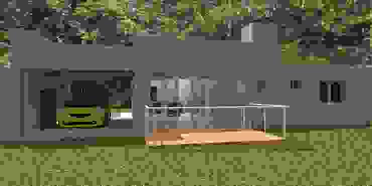 Vivienda Unifamiliar – 90 m² – Zona Villa Carlos Paz Casas modernas: Ideas, imágenes y decoración de Arq. Barale Guillermo Moderno