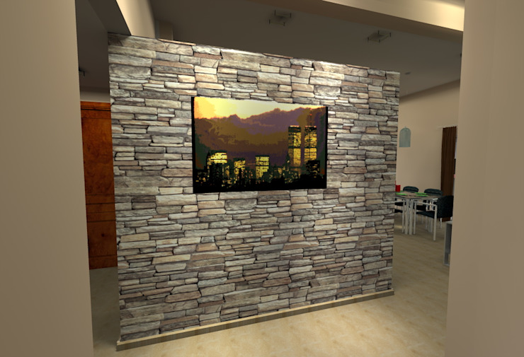 Vivienda Unifamiliar – 90 m² – Zona Villa Carlos Paz Livings modernos: Ideas, imágenes y decoración de Arq. Barale Guillermo Moderno