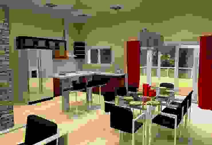 Vivienda Unifamiliar - 90 m² - Zona Villa Carlos Paz Cocinas modernas: Ideas, imágenes y decoración de Arq. Barale Guillermo Moderno