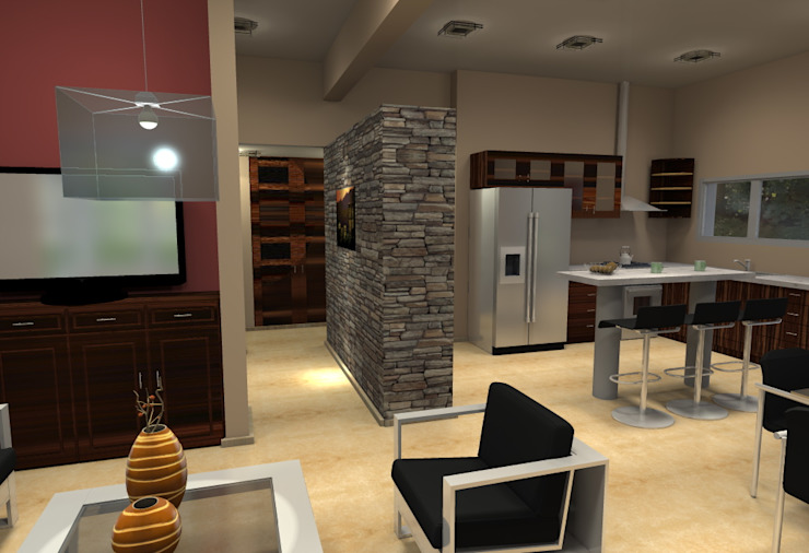 Vivienda Unifamiliar – 90 m² – Zona Villa Carlos Paz Comedores modernos de Arq. Barale Guillermo Moderno