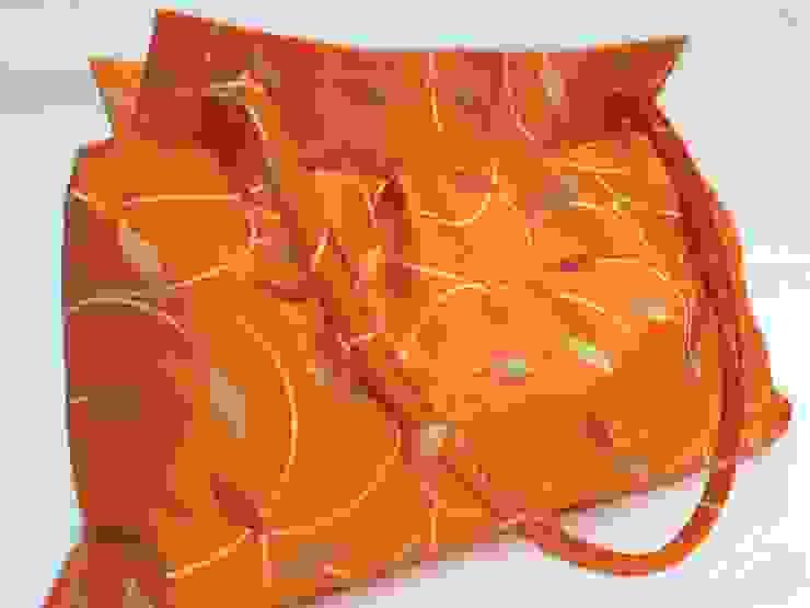 Aufbewahrungstasche - Stofftasche in orange von Brigitte Wüsthoff Klassisch Textil Bernstein/Gold