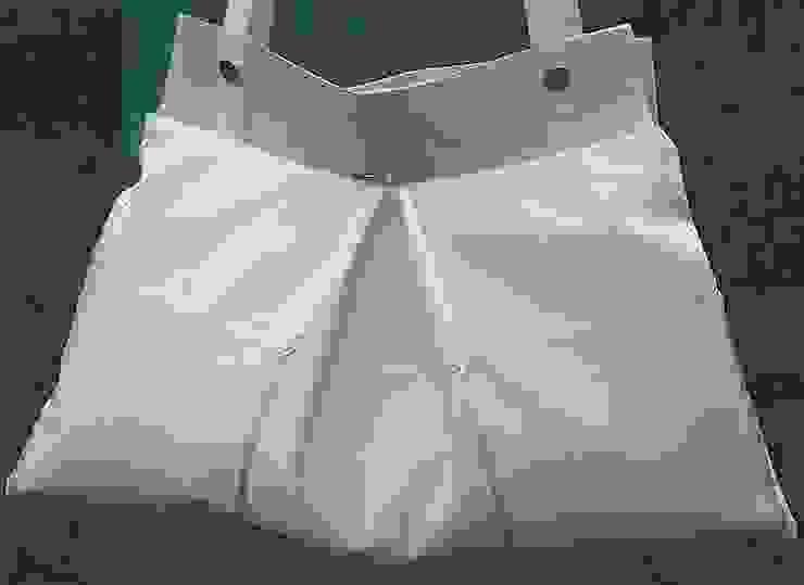 Aufbewahrungstasche - Stofftasche in weiß von Brigitte Wüsthoff Klassisch Textil Bernstein/Gold