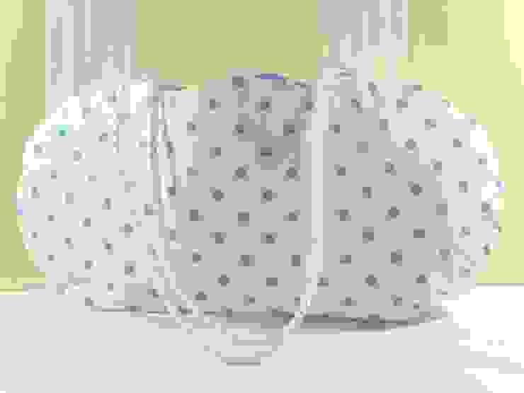Aufbewahrungstasche - Stofftasche in weiß mit blauen Punkten von Brigitte Wüsthoff Ausgefallen Baumwolle Rot